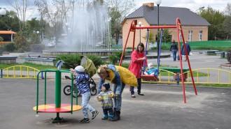 Новый детский городок у фонтана