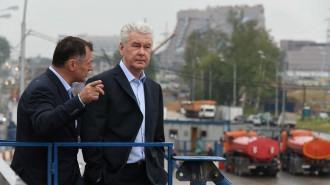 18 июля 2016 Мэр Москвы Сергей Собянин осмотрел ход строительства новой трассы Солнцево-Бутово-Видное