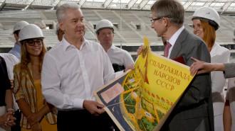 22 июля 2016 Мэр Москвы Сергей Собянин осмотрел ход реконструкции стадиона Лужники
