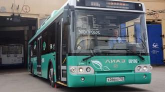 Электробус ЛиАЗ-6274 в Филевском автобусно-троллейбусном парке