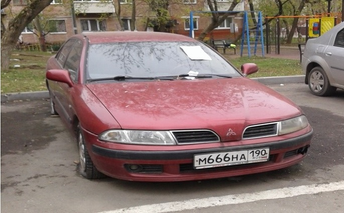 г. Щербинка. ул. Спортивная. д.1. Мицубиси грз м666на190