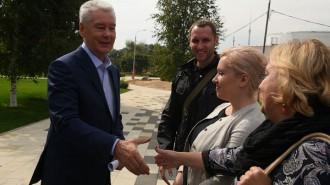 Мэр Москвы Сергей Собянин осмотрел ход работ по благоустройству парка «Сад будущего»
