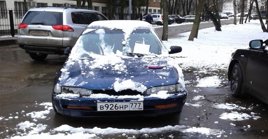г.Щербинка, ул. Садовая, д.5, Хонда, синий, грз В926НР777