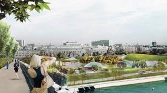 Систему прудов завершают в парке «Зарядье» . Фото: Пресс-служба Москомархитектуры