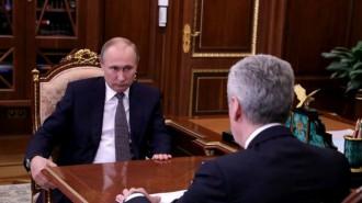 Президент России Владимир Путин на встрече с мэром Москвы Сергеем Собяниным. Фото: официальный сайт президента России