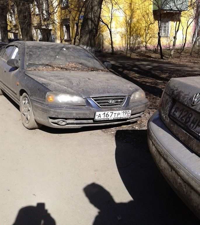 Хундай  грз А167тр190, брошен  на ул. Мостотреста  д.3