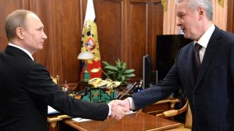 Путин и Собянин проехали по первому маршруту наземного метро Москвы. Фото: официальный сайт мэра Москвы