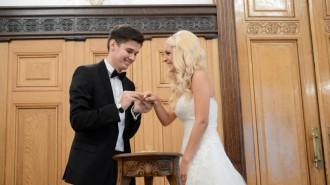 Свыше 470 пар зарегистрирую брак в ЗАГСах столицы 31 декабря. Фото архив