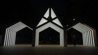 Лианозовский променад подсветка район Лианозово (Елена Родина) _DSC4396