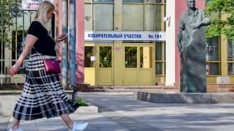 Худрук Театра на Малой Бронной Константин Богомолов проголосовал по Конституции. Фото: сайт мэра Москвы