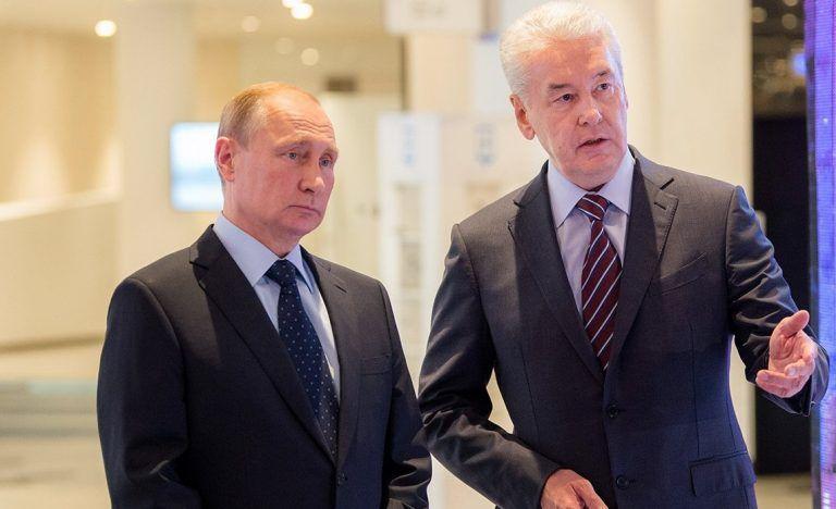Президент Российской Федерации Владимир Путин и мэр Москвы Сергей Собянин 27 февраля на открытии «Острова мечты»