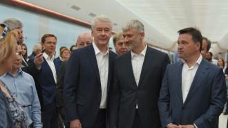 На фото мэр Москвы Сергей Собянин и губернатор Подмосковья Андрей Воробьев