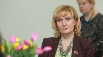 На фото сенатор Российской Федерации, председатель комитета Совета Федерации по социальной политике Инна Святенко